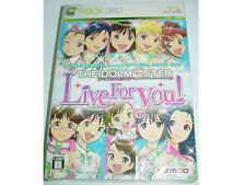 XBOX 360 Japan Game The Idolmaster iDOL M@STER Live For You Limited Region New