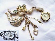 * KIRK'S FOLLY USA * FATHER TIME FOB WATCH BROOCH PIN in ORIGINAL BOX *