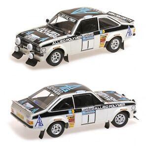 1/18 MINICHAMPS Ford Escort Rs 1800 N°1 Mäkinen/Liddon Winner Lombard Rally