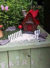 red fairy house magic garden starter kit fence ladybird bee butterfly toadstool