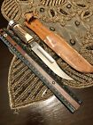 Vintage Fixed Blade Stag Handle Knife. Edge brand 473 Solingen Germany.