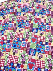 Minnie Patchwork Printed Leatherette Fabric A4 Sheets Faux Leather