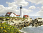 Island lighthouse Oil painting wall picture art printed on canvas L1341