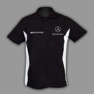 Mercedes Polo T-shirt T shirt chemise Homme Broderie Fait en EUROPE XS - 6XL