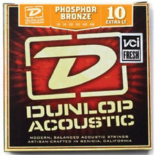JIM DUNLOP ACOUSTIC GUITAR STRING SET EXTRA LIGHT 10-48 PHOSPHOR BRONZE