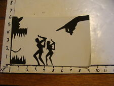 Vintage MARIONETTE PHOTO, abstract: SHADOW Adam & Eve GOD'S HAND POINTING OUT