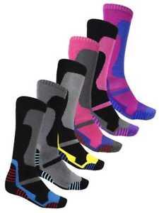 3 x Pairs Winter Soft Thermal Padded Long Ski Socks Hiking Walking Cycling New