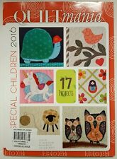 Quilt Mania Projects Full Size Templates Special Children 2016 FREE SHIPPING JB