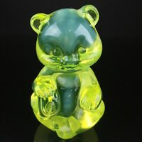 Fenton Glass Yellow Topaz Opalescent Bear Rare
