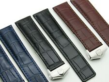 19mm DISMAY Replacement Leather Watch Band Strap Made For Tag Heuer WF1120-0 18K