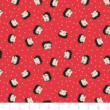 Red White & Betty Boop Dot in Ruby Red Camelot 100% Cotton Fabric by the yard
