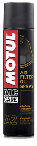 Motul A2 Olio Spray Schiuma per Filtri Aria Moto Cross Enduro Quad 400 ml