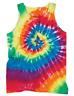 Men's RAINBOW SPIRAL TIE DYE Tank Top T-Shirt NEW