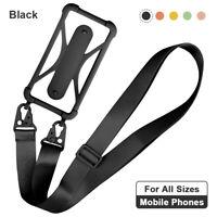 Universal Mobile Phone Silicone Lanyard Case Cover Holder Sling Neck Strap Belt