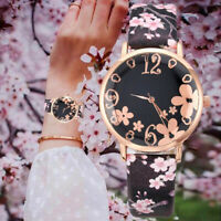 Embossed flower ladies watch artificial leather analog quartz Dial Wrist watch