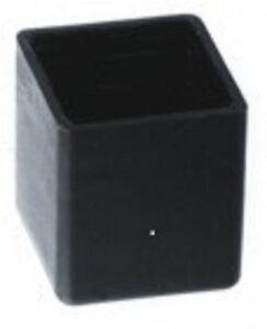 50 St. Rohrkappen 40x40mm Abdeckkappe Kunststoff schwarz