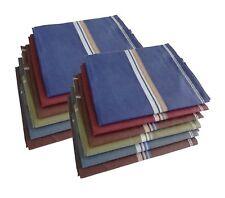 100% Cotton Premium Collection Handkerchiefs Pack of 12 Dark Color Assorted