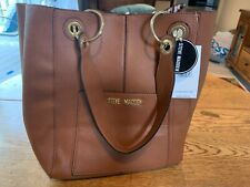 STEVE MADDEN Tote Satchel Brown Handbag Shoulder Purse Attached BeWild Purse