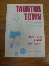 10/04/1978 Taunton Town v Chelmsford City  . Thank you for viewing this item, we