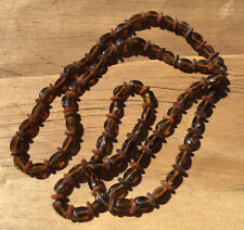 "EARTHY ""Brown"" Pretty Women's Glass Beaded Large Fashion Infinity Necklace"