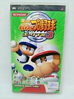 Sony Psp PLAYSTATION Portable Jikkyō Powerful Pro Baseball 3 Konami Jap Voir