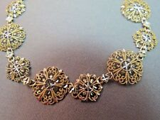 "10k Yellow Gold Bracelet JCM Lacy Filigree 4.68g 14.5mm Wide 7.5"" Diamond Cut"