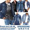 Giacca Jeans da Uomo Fashion Giubbino in Cotone Denim per Moda Slim Fit Casual
