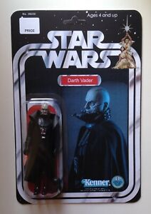 Custom Darth Vader (No Helmet) Vintage Style 3 3/4 Action Figure