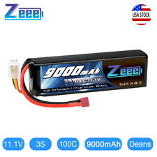 Zeee 9000mAh 3S 11.1V 100C Metal Plates LiPo Battery Deans for RC Car Truck Boat