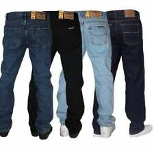 MENS BLUE CIRCLE BASIC DESIGNER REGULAR FIT JEANS ALL WAIST & LEG BIG KING SIZES