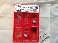 Sanrio Hello Kitty Retro Desk Tray Case 1991 Made in Japan F/S No Box ZJP