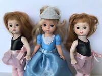 "3 Mcdonalds Madame Alexander Mini Dolls Ballerina Cinderella 5"""