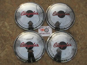 1939 CHRYSLER C SERIES, IMPERIAL, WINDSOR, NEW YORKER SARATOGA HUBCAPS, SET OF 4