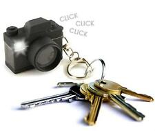 Kikkerland Camera Key Chain Ring LED Realistic Flash and Shutter Sound Keychain