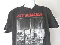 PET SEMATARY LARGE BLACK TEE SHIRT stephen king horror book movie film maine cat