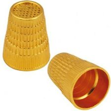 sewing Thimble  all metal Gold Color 1 size fits all  great for tailors & sewers