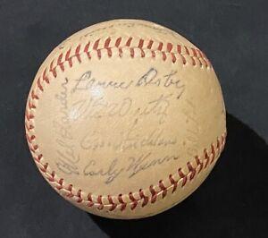 1954 CLEVELAND INDIANS TEAM SIGNED STAMP BASEBALL WORLD SERIES SEASON BOB FELLER