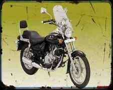 Bajaj Avenger 180 1 A4 Metal Sign moto antigua añejada De