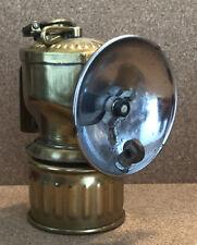 Vintage JUSTRITE Brass Miner's Carbide Hat Lamp Light Lantern Patent 115123