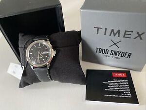 NWT TIMEX x Todd Snyder Men's 2T568 Leather Wrist Watch - IOB TW2T56800JR