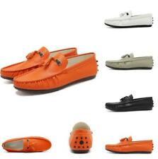 Mens Leather Flats Casual Driving Moccasins Tassels Gommino Pumps Lazy Shoes New