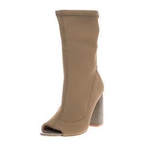 GET IT Neoprene Mid-Calf Boots EU 37 UK 4 US 7 High Heel Sock Like Made in Italy