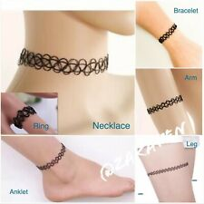 Henna Tattoo Choker Elastic Necklace Bracelet Anklet Ring Girls/Women US Seller