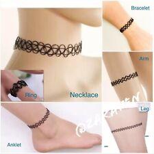 Henna Tattoo Choker Elastic Necklace/Bracelet/Anklet/Ring Girls/Women US Seller