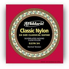 D'Addario EJ27N 3/4 Student NylonFractional Classic Guitar Strings-NormalTension