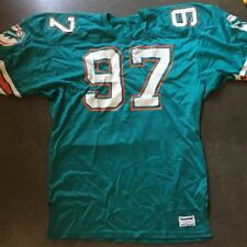 Vintage 1989 Sand-Knit Miami Dolphins #97 Football Game Jersey/Free Shipping!