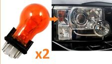 Pair of Amber indicator bulbs for Land Rover Discovery 3 LR3 headlight upgrade