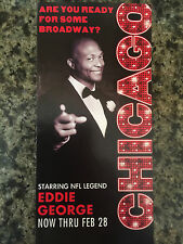 Eddie George of NFL in Chicago the musical ad/flyer Broadway  ad RARE