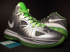 Nike Air Max LEBRON VIII 8 P.S. DUNKMAN SILVER WHITE GREY ELECTRIC GREEN DS 9.5