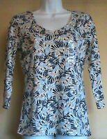NWT KAREN SCOTT Women's Cotton Blend V-Neck 3/4 Sleeve Top Blouse Size: S